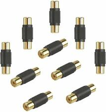 IMPULSE 10 Pack Audio Video RCA Female to Female Adapter Coupler RCA Cable