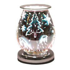 Aroma Oval 3D Touch Electric Wax Melt Burner - Reindeer & Xmas Tree -  AR1389