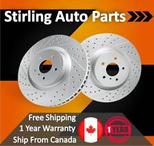 2009 2010 For Pontiac Vibe Coated Drilled Slotted Front Rotors