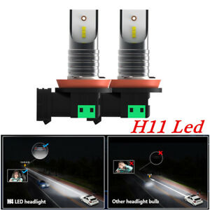 H11 Car LED Headlight Conversion Kit Bulbs 110W 30000LM 6000K White Seoul CSP