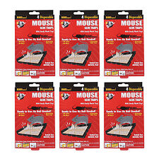 """D.O.A Disposable Glue Mouse Insect Rat Rodent Traps, 5"""" x 2.2"""", Pack of 24"""