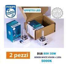 2 LAMPADINE XENON D1S PHILIPS WHITE VISION 5000K +120% EFFETTO LED 85415WHV2C1