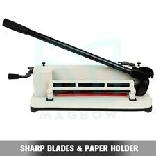 Paper Cutter 12 A4 B7 Guillotine Page Trimmer Blade Scrap Metal Base Heavy Duty