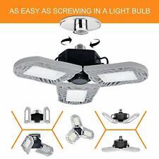 LED Garage Lights,60W E26/E27 6000LM Deformable LED Garage Ceiling Lights,