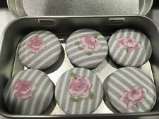 Handmade Fabric Button Magnets In Sophie Allport Fabric