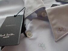 "PAUL SMITH Mens Shirt SIZE 17 1/2"" (chest 44"") 'the byard'  BICYCLE DESIGN!!"