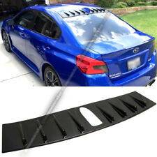Fit 15-18 WRX STI Glossy Black Painted Vortex Generator Shark Fin Roof Spoiler