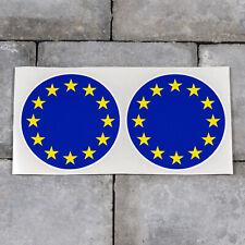 European Flag Round Vinyl Stickers Decals Car Van - SKU5683