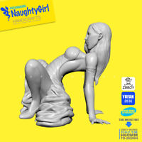 Naughty Sexy Dress girl Resin Kits Unassembled Unpainted Figure GK 75mm 1/32
