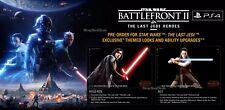 Star Wars Battlefront 2 (PS4) Pre-Order DLC - Last Jedi Heroes Bonus Content!