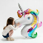 2 Rainbow Unicorn Horse Inflatable Foil Helium Balloon Birthday Party Room Decor