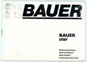 Filmkamera Bedienungsanleitung BAUER STAR User Manual Anleitung (Y2183