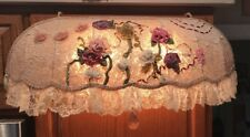 Gorgeous Lace &Crystal Floral Lighted Canopy 4 Beds Or Cabinetry