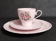 Hutschenreuther porcelaine rose 3tlg. Kaffeetasse  /Unterteller / Kuchenteller