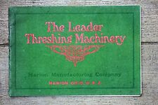 RARE ORIGINAL 1906 The Leader Threshing Machinery Catalog, Traction Engines