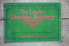RARE ORIGINAL 1906 The Leader Threshing Machinery Catalog, Traction Engines