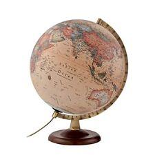 Atmosphere - Globo Terráqueo con esfera de madera y metal iluminada en Castel