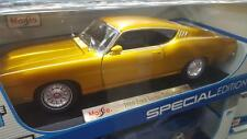 EXCLUSIVE Maisto 1:18 Scale Diecast Model - 1969 Ford Torino Talladega (Gold)