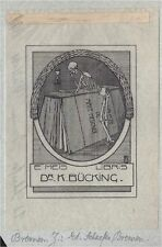 EX LIBRIS BOOKPLATE DR K BÜCKING E MEIS SCHAEFER BREMEN PAPIER TRANSPARENT !!!
