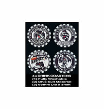 4  x MAGPIES WESTS  FOOTBALL RUGBY LEAGUE AUSSIE RULES SOCCER, DRINK COASTERS