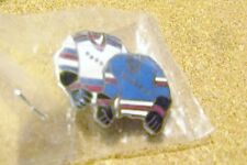 NY N.Y. New York Rangers dual jersey lapel pin made by Carbo