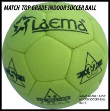 TOURNAMENT  MATCH QUALITY TOP GRADE INDOOR FOOTBALL SOCCER BALL FELT COVER- SZ 5