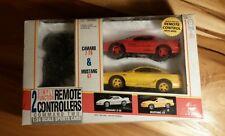 Super Rare NOS Vtg Camaro Vs Mustang New Bright 1996 Wired Remote Control Cars