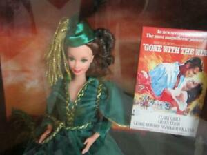 Barbie as Scarlett O'Hara Hollywood Legends Collection Green and Gold Dress