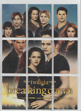 Twilight Saga Breaking Dawn Part 2 PuzzleTrading Cards Set of 9