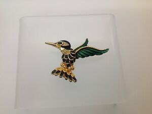 Sphinx Jewelry Co. Hummingbird Enamel Brooch Pin Signed Hallmark A1662