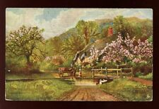 Hampshire Ringwood Ford artist A W Bridgeman Tuck Oilette #7114 PPC used 1906
