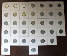 WWII German 3rd Reich Nazi 10 Rpf Coins. 1940 - 1945 All Mints,All 36 Pcs.UNC/XF