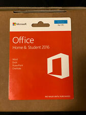 Microsoft Office Home and Student 2016 1 User PC Key Card
