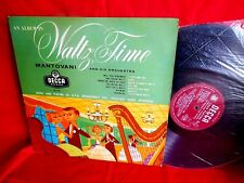MANTOVANI and his ORCHESTRA Waltz time LP 1955 UK MINT-