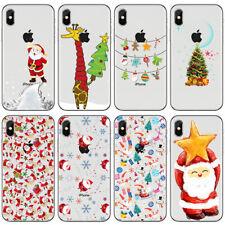 Clear Christmas Santa TPU Phone Case Cover Apple iPhone XS Max XR X Plus 11 8 7