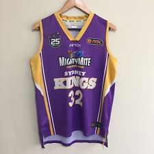 Sam Young 32 Sydney Kings 2013 And1 25 Years NBL Basketball Jersey Mens Medium