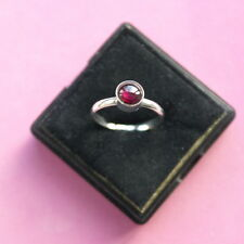 Beautiful 925 Silver Ring With Garnet  1.1 Gr. Size  L - N12 - O - P - R In Box