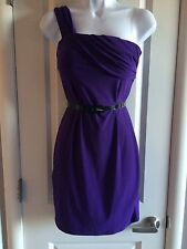 Purple One Shoulder Mini Dress w/ Belt by Fashion Junkee - SM - NWT!!