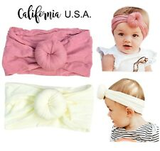 California Tot SALE Lot 2 Retro Baby Toddler Turban Bow Pre- Knot Bun Headband