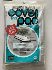 New Magla Silver Ironing Table Cover & Pad 2 Vintage Kmart 54 100% cotton