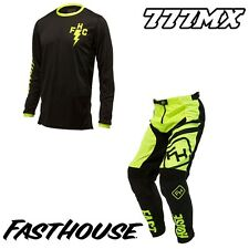 "2017 FASTHOUSE SPEED STYLE CREW L1 MOTOCROSS MX KIT COMBO HI-VIZ 30"" SMALL"