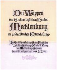 Die Wappen des Großherzoglichen Hauses Mecklenburg von Teske