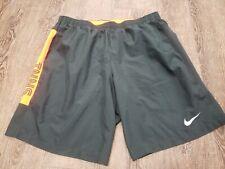 Men's Nike Workout Short Black Orange Size Large Running DriFit