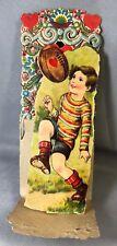 c.1930 6-inch Football Valentine Die Cut Fold Out German Vintage Original