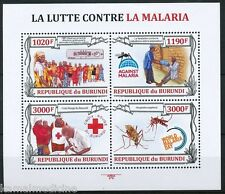 Malaria, Disease, Red Cross, Medicine, Health, BURUNDI 2013 MNH  4v SS  -  Me14