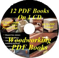 12 WOODWORKING BOOKS ALL IN PDF FORMAT PLUS SHOP PROJECTS CD ALL ON ONE CD