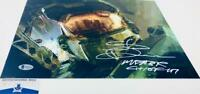 Steve Downes signed Master Chief 11X14 Metallic photo HALO BAS M62112