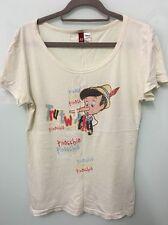 EXCELLENT H&M x Disney Pinocchio Women's Cream T-shirt Sz 42