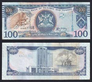 Trinidad and Tobago 100 dollars 2014 SPL/XF  B-09