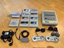 SNES Console Bundle - 8 Games - 2 Controllers - Super Game Boy - NTSC Converter